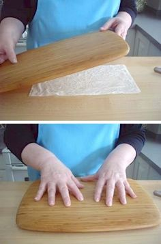Keep your cutting board from sliding! ~ 36 Kitchen Tips and Tricks That Nobody Told You About