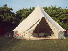 """Wedding tent from the blog """"Junkaholique."""" If I had a giant yard I would set one up all summer!"""