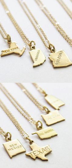 Home state necklace