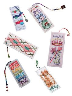 Pattern For Counted Cross Stitch Bookmarks. Cross Stitch For Kids, Cross Stitch Books, Cross Stitch Bookmarks, Cross Stitch Love, Cross Stitch Charts, Cross Stitch Patterns, Cross Stitching, Cross Stitch Embroidery, Book Markers