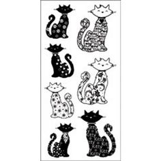 "Inkadinkado Clear Stamps 4""X8"" Sheet-Cats"