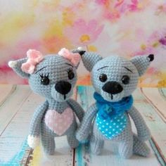 Crochet wolf cub amigurumi pattern free