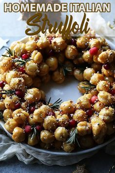 Bring out the Italian in you with this super tasty Homemade Struffoli Recipe with Honey and Pecans that is perfect for the holidays! Fun Baking Recipes, Honey Recipes, Dessert Recipes, Desserts, Struffoli Recipe, Thing 1, Holiday Recipes, Winter Recipes, Christmas Recipes