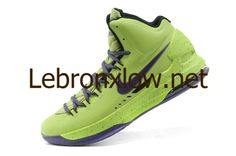 Kevin Durant shoes 2013 KD V Volt LawnGreen Court Purple Glow in the dark