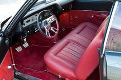70 chevelle grey silver chrome wheels. Kindig-it Design billet 5 split spoke star 1970 Chevelle Chevrolet - Kindig It Design red and black interior #BecauseSS