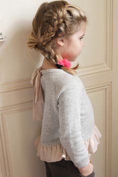 """""""Louise Misha AW13"""". Love her hair and sweater... Just too cute!"""