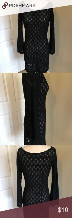 Olivia Blake Dress black stretch dress Olivia Blake Dresses Long Sleeve