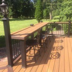 Image result for bar railing on deck