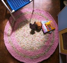 Cute rug for the kids reading area