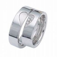 """Like the two-piece - it has an extra special meaning when worn together (if both pieces were made for the same person). If there was a way to make """"a connection"""" between my ring and his, but at the same time making this two-piece ring his own, that would be cool too. NLM."""