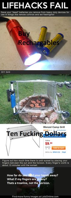 lifehacks fail batteries grill