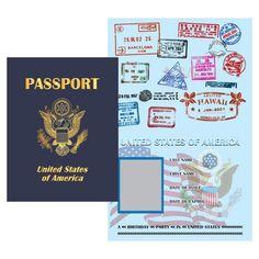 Printable Digital PDF File - Play Passport United States from Wonderful… Passport Template, Passport Card, Passport Stamps, United States Passport, Passport Renewal, Passport Services, Invitation, Teacher Notebook, Birth Certificate