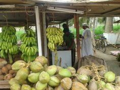 Open air market in Salalah, Oman