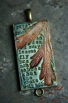 forest finery 12 - great trees bend and sway - simple truths pendant. $24.00, via Etsy.