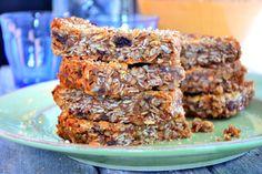 Gluten-Free & Dairy-Free Chewy Muesli Bars #glutenfree #dairyfree TheHealthyApple.com