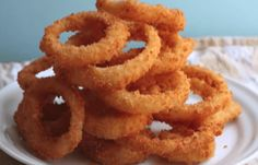 SHARING IS CARING!00020Chef John's Crispy Onion Rings Ingredients: 1/2 cup all-purpose flour 1/4 cup cornstarch 2 tablespoons instant mashed potatoes big pinch of cayenne 1 cup cold club soda 2-3 cups Panko (Japanese-style breadcrumbs), or as needed fine sea salt to taste vegetable oil for frying** 2-3 yellow onions, cut into 1/4-inch rings *Note: the …
