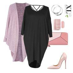 6e1ef764d7 Czarna sukienka oversize z paskami na plecach. Do sukienki polecamy  narzutkę o luźnym fasonie z