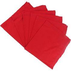 Guardanapo de Tecido Vermelho Liso 6 peças