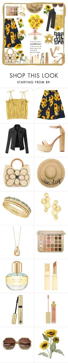 """""""Summer 🌻 Sunflowers"""" by allyssister ❤ liked on Polyvore featuring LE3NO, Charlotte Russe, Mar y Sol, Eugenia Kim, Lucky Brand, Trina Turk, Dana Buchman, Elie Saab, Estée Lauder and AERIN"""
