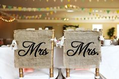 Rustic Same Sex Burlap Mrs and Mrs Wedding by HeartOfGoldBlog, $22.00