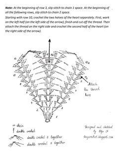 Resultado de imagen de heart crochet
