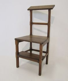 Arts & crafts library step chair (eBay).