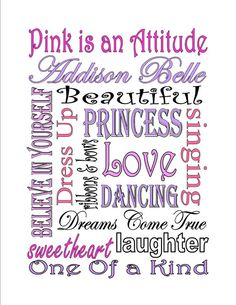 Items similar to Personalized Printable Girl Princess Subway Art Sign on Etsy Baby Subway Art, Sparkle Quotes, Card Sentiments, Daughter Of God, Disney Scrapbook, Funny Art, Art Wall Kids, Word Art, Art Sign