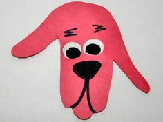Traced-Hand Clifford Craft perfect for any Clifford the Big Red Dog book by Norman Bridwell.
