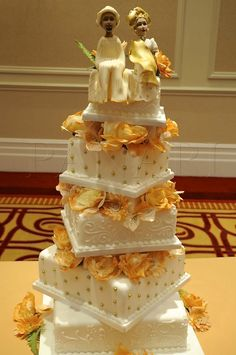 Beautiful African Wedding Cake!!