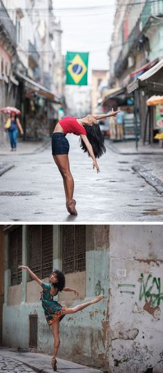 Omar Z. Robles recently traveled to Rio de Janeiro, where local ballet dancers show off their best moves for the well-known dance photographer.