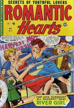 Cat fight on C deck. Comic Book Covers, Comic Books Art, Comic Art, Old Comics, Vintage Comics, Gorgeous Ladies Of Wrestling, Planet Comics, Romance Comics, Weird