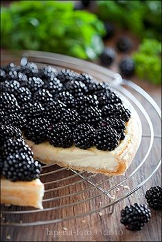 https://flic.kr/p/8qwQwB | Tart with blackberries and cream cheese1