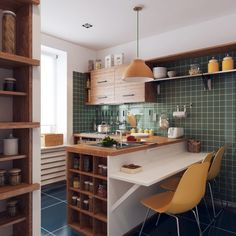 Tiny kitchen storage small apartments square feet 37 ideas for 2019 Kitchen Dinning Room, Dining Room Wall Decor, Kitchen Tiles, Dining Room Design, Home Decor Kitchen, Interior Design Kitchen, Kitchen Furniture, Home Kitchens, Decoration Inspiration