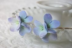 Something Blue Hydrangea Hair flowers For Weddings