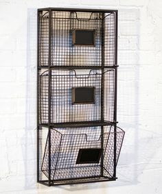 Look what I found on #zulily! Black Triple File Wall Basket #zulilyfinds