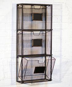 Black Triple File Wall Basket #zulily #zulilyfinds