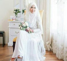 Hijab & beaded kurung for nikah by emma_wf