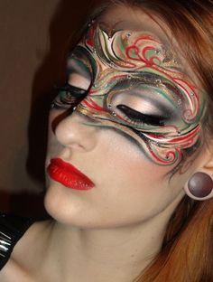 Kristianathe Blog: Mysterious Art nouveau masquerade look / mask