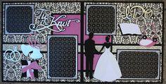 Faith Abigail Designs - Complete Wedding Album Series: Tie the Knot Double Scrapbook Layout