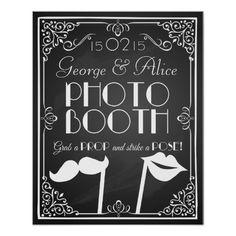 personalisierte Hochzeits-Fotostand-Zeichentafel