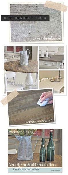 verftechnieken vergrijzen en old wood effect