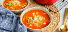 Chinese tomatensoep | In 30 min. op tafel - Lekker en Simpel Min, Thai Red Curry, Healthy Recipes, Healthy Food, Favorite Recipes, Ethnic Recipes, Recipes, Healthy Foods