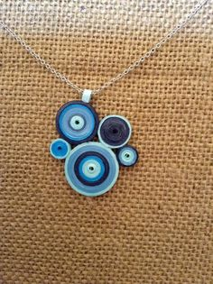 Quilled paper art necklace by MyPaperFrog on Etsy