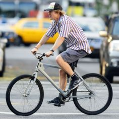 Owen Wilson rides his bike through the West Village in New York City on July 17. Where are you going, Owen? Your part-time job at Hot Dog On A Stick?