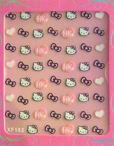 Hello Kitty Nail Art Stickers-Hearts and - - Dress up all your nails with these super cute nail stickers! Quick and easy to use too! WARNING: CHOKING HAZARD - Small parts. Not for children un Latest Nail Designs, Creative Nail Designs, Creative Nails, Hello Kitty Themes, Hello Kitty Nails, Shellac Nails, Nail Polish, How To Cut Nails, Super Cute Nails