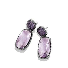 Chatelaine Drop Earrings with Lavender Amethyst//