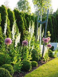 Back Garden Design, Garden Design Plans, Flower Garden Design, Backyard Garden Design, Lawn And Garden, Unique Gardens, Back Gardens, Beautiful Gardens, Outdoor Gardens