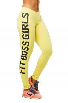 Legging Fit Boss Girls Yellow | Labellamafia Clothing