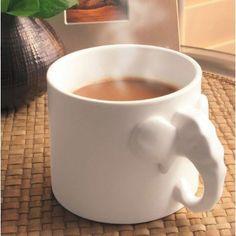 Cute Elephant Calf Shaped Big Mug