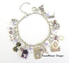 Pretty Little Liars Charm Bracelet Number 1 by DreamWeaverDesigns, $17.95